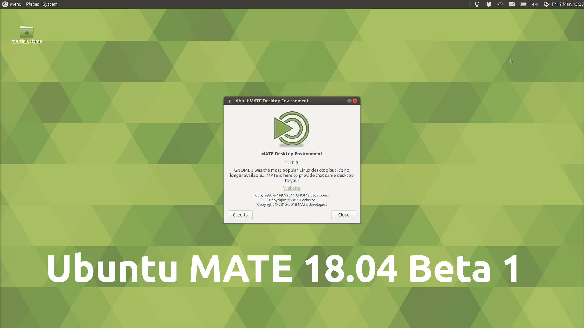 Ubuntu MATE 18.04 Beta 1