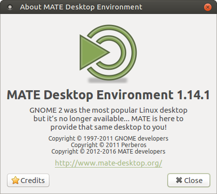 About MATE Desktop 1.14