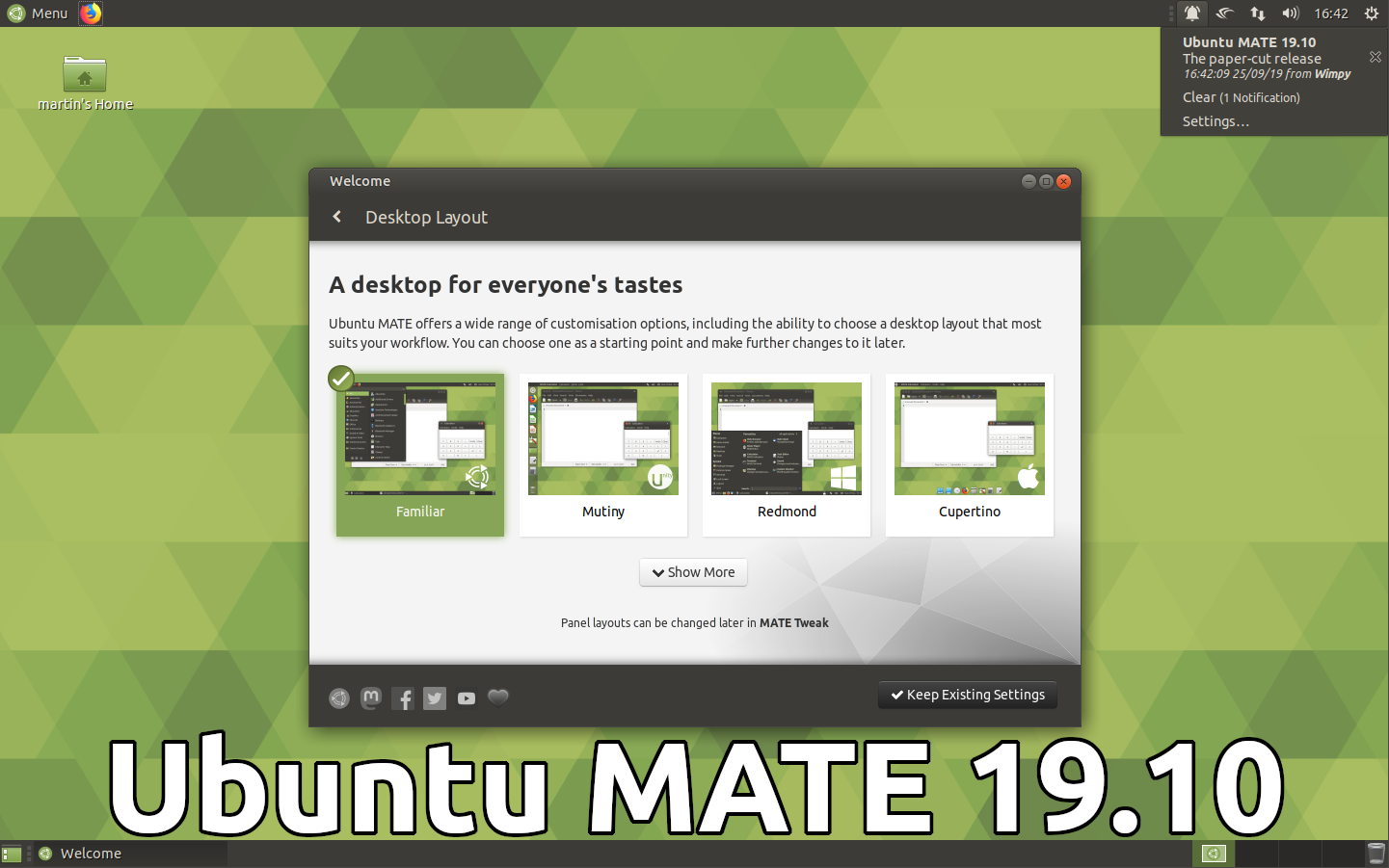 Ubuntu MATE 19.10 Beta