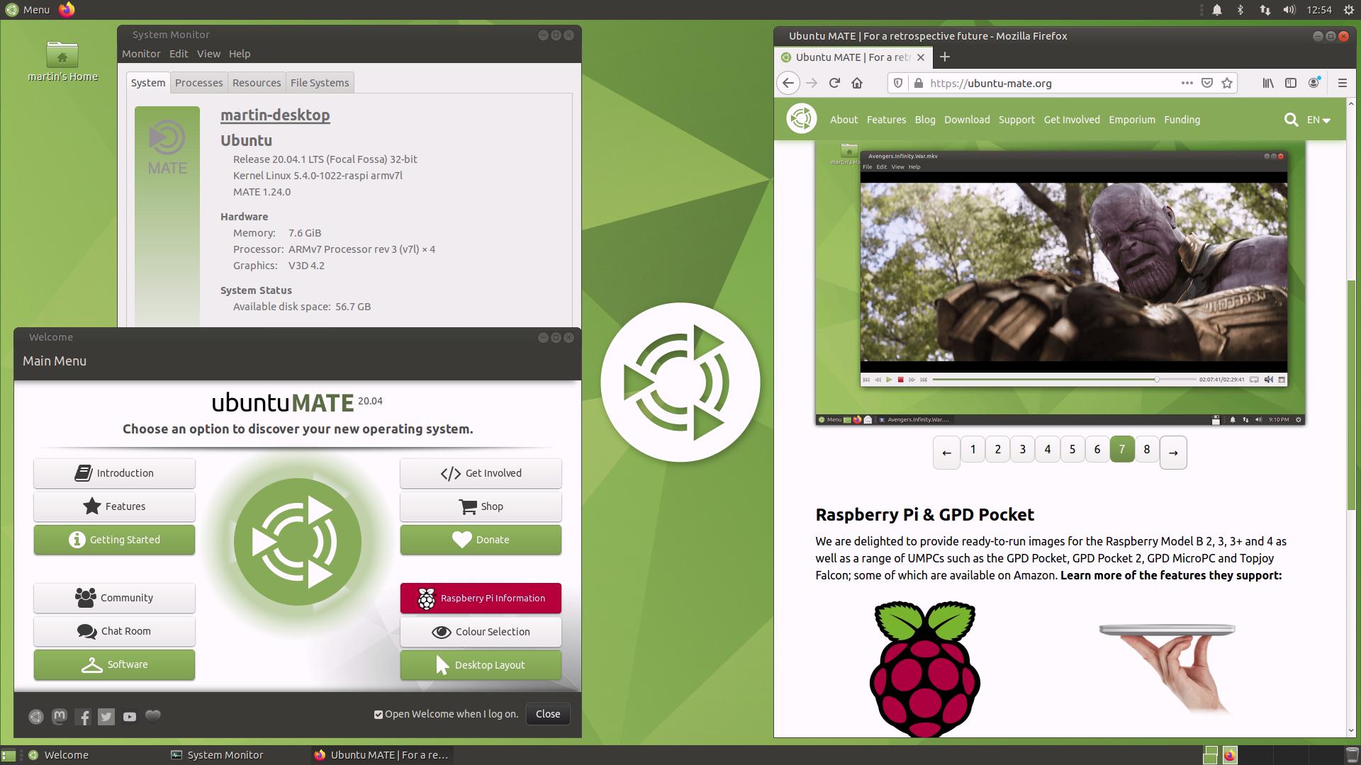 Raspberry Pi Ubuntu Mate